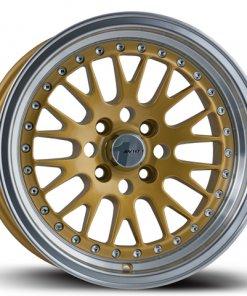 Avid 1 wheels AV-12 Gold Polished Lip