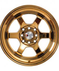 F1R wheels F05 Gold Chrome