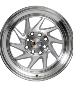 F1R wheels F07 Silver Machined Polished Lip