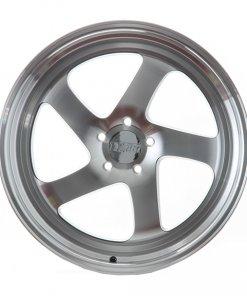 F1R wheels F28 Black Machined Polished Lip