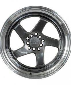 F1R wheels F28 Hyper Black Polished Lip