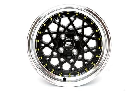 MST wheels Fiori Matte Black Gold Rivets