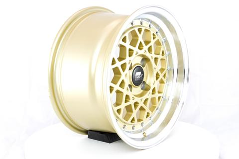 MST wheels Fiori Gold Machined Lip