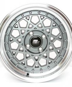 MST wheels Fiori Gun Metal Machined Lip