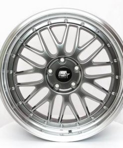 MST wheels LeMan Hyper Black Machined Lip