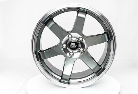 MST wheels MT01 Gun Metal Machined Lip