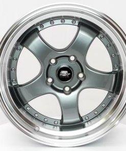 MST wheels MT07 Gun Metal Machined Lip