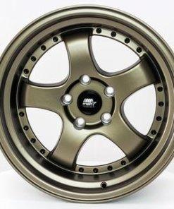 MST wheels MT07 Matte Bronze Black Rivets