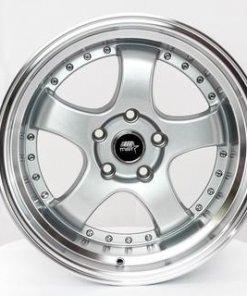 MST wheels MT07 Silver Machined Lip