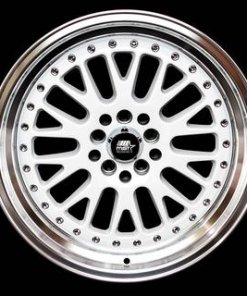 MST wheels MT10 White Machined Lip