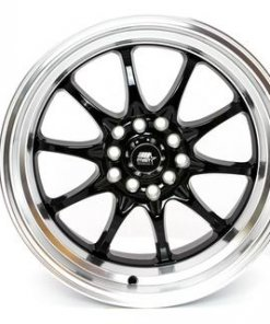 MST wheels MT11 Black Machined Lip
