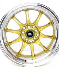 MST wheels MT11 Gold Machined Lip