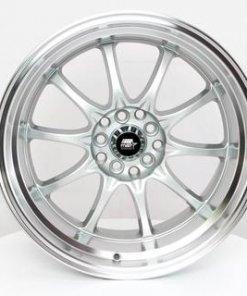 MST wheels MT11 Silver Machined Lip