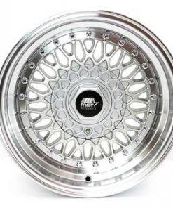 MST wheels MT13 Silver Machined Lip