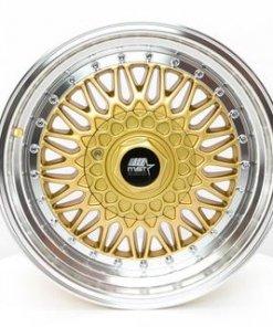 MST wheels MT13 Gold Machined Lip
