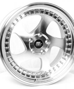 MST wheels MT15 Silver Machined Face