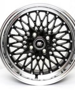 MST wheels MT16 Black Machined Red Lip