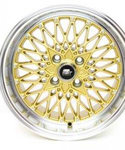 MST wheels MT16 Gold Machined Lip