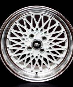 MST wheels MT16 White Machined Lip