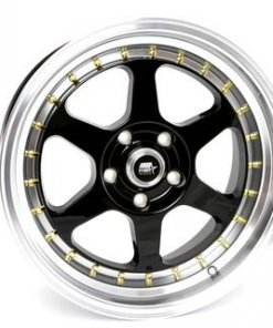 MST wheels MT35 Matte Black Gold Rivets