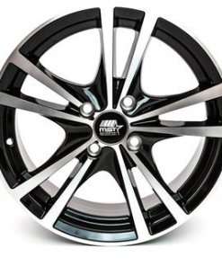 MST wheels Saber Gloss Black Machined Face