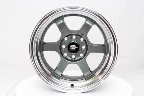 MST wheels Time Attack Gun Metal Machined Lip