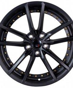 Options Lab wheels S409 Matte Black Gold Rivets