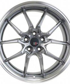 Options Lab wheels S718 Nightfall Grey Machined Lip