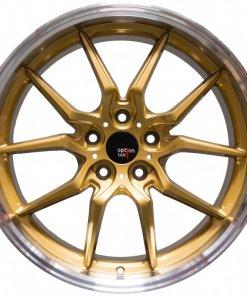 Options Lab wheels S718 Top Secret Gold Machined Lip