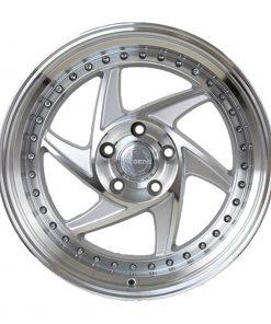 Regen5 wheels R34 Silver Machined Polished Lip