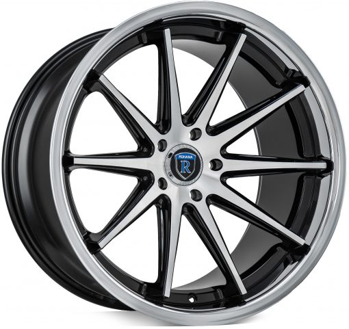 Rohana wheels RC10 Machined Silver Chrome Lip