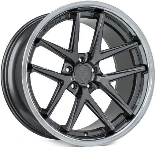 Rohana wheels RC9 Gloss Graphite Stainless Lip