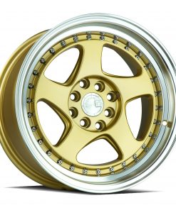 AH01 AH01 15X8 4X100/114.3 Gold Machined Lip