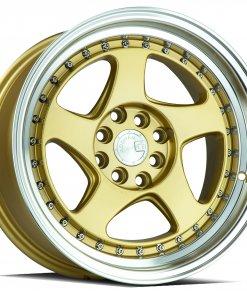 AH01 AH01 16X8 4X100/114.3 Gold Machined Lip