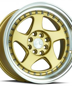 AH01 AH01 17X9 4X100/114.3 Gold Machined Lip