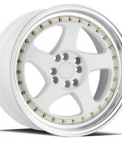 AH01 AH01 17X9 4X100/114.3 White Machined Lip