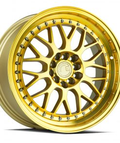 AH02 AH02 17X8 4X100/114.3 Gold Machined Lip