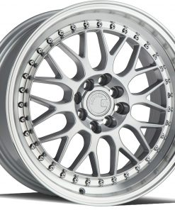 AH02 AH02 17X8 4X100/114.3 Silver Machined Lip