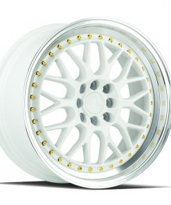 AH02 AH02 17X8 4X100/114.3 White Machined Lip