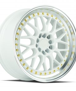 AH02 AH02 17X8 5X100/114.3 White Machined Lip