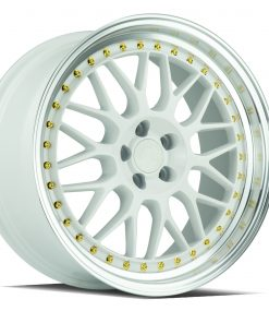 AH02 AH02 18X8.5 5X114.3 White Machined Lip