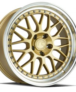 AH02 AH02 18X8.5 5X114.3 Gold Machined Lip