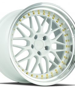 AH02 AH02 19X9.5 5X114.3 White Machined Lip