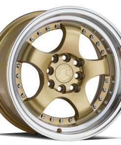 AH03 AH03 15X8 4X100/114.3 Gold Machined Lip