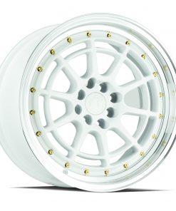AH04 AH04 17X9 5X100/114.3 White Machined Lip