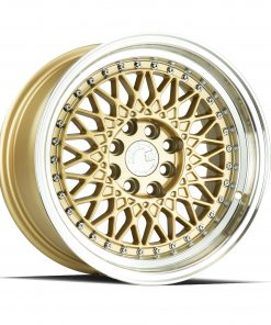 AH05 AH05 15X8 4X100/114.3 Gold Machined Lip