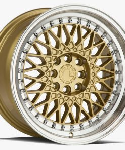 AH05 AH05 16X8 4X100/114.3 Gold Machined Lip