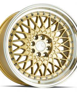 AH05 AH05 17X9 4X100/114.3 Gold Machined Lip