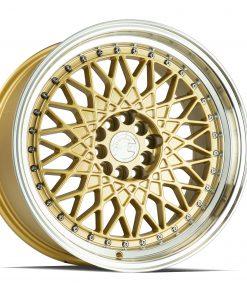 AH05 AH05 17X9 5X100/114.3 Gold Machined Lip