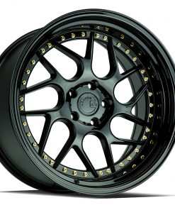 DS01 DS01 18X10.5 5X120 Gloss Black Gold Rivets